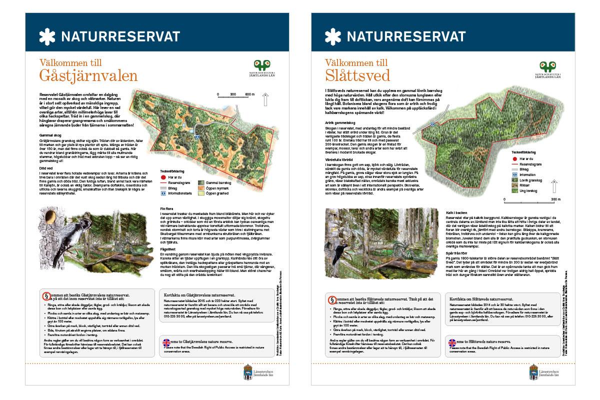 Skylt Naturreservat